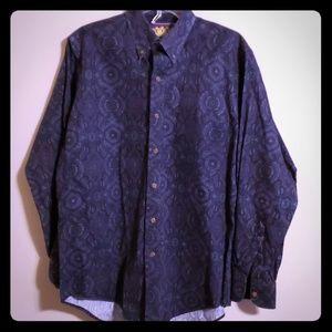Ralph Lauren button down purple and blue
